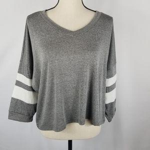 NWT Good Luck Gem Dolman Sleeve Cropped Shirt